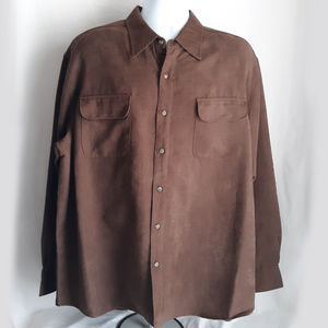George Long Sleeve Sueded Shirt Men's XL 46/48